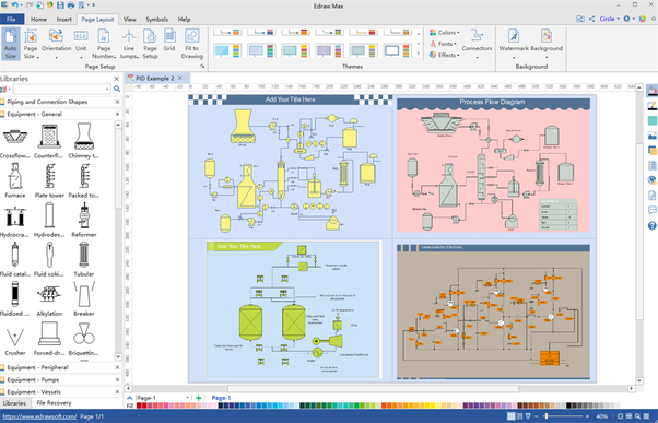 Probably this multi-platform based one here Edraw Engineering Diagram Design Software