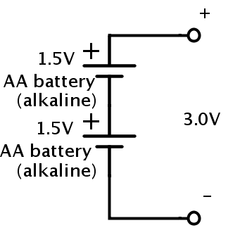 how to connect aa batteries in series