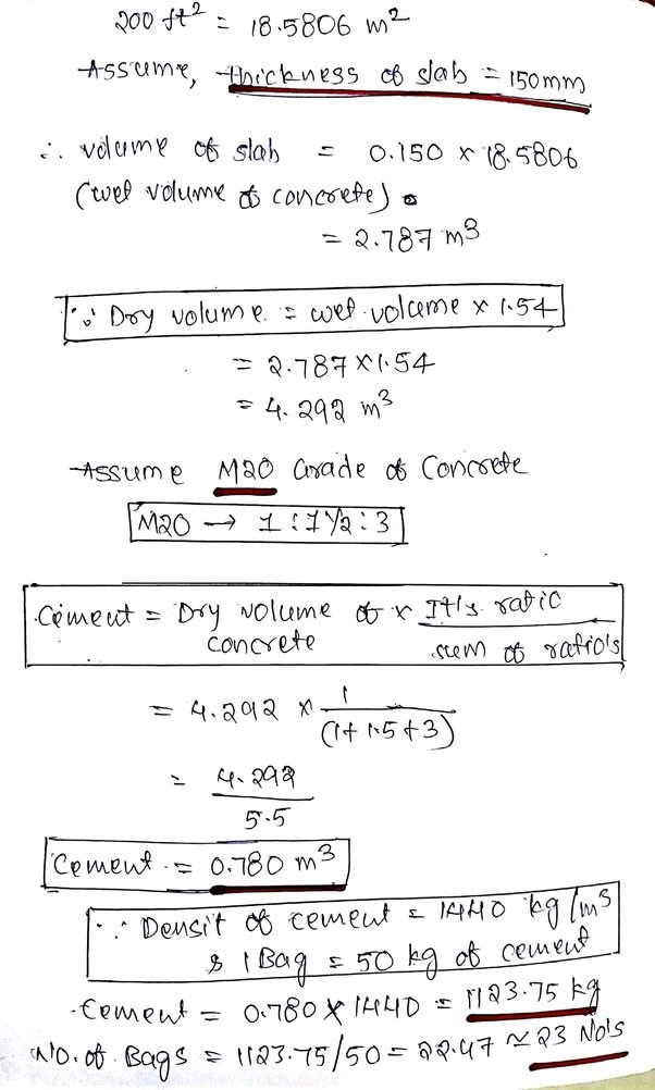 If Your From Civil Engineering Background Have A Look At The Calculation In Below Image