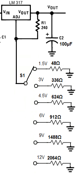how to convert a 12v supply to 6v