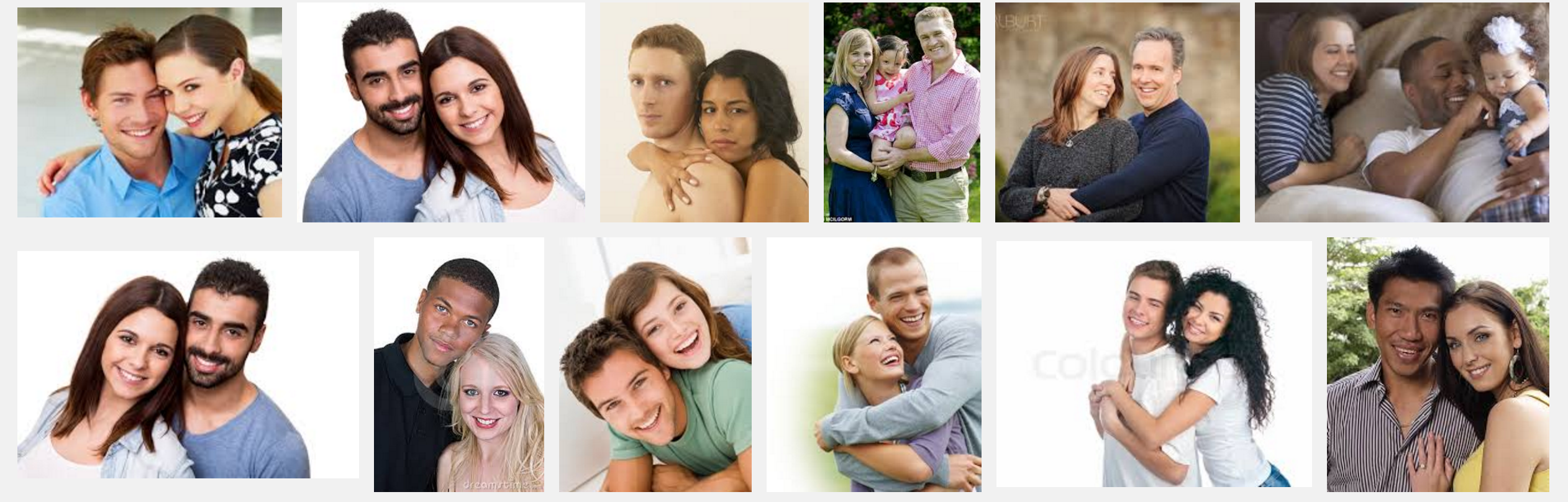 Why does Google incorrectly show interracial couples during image