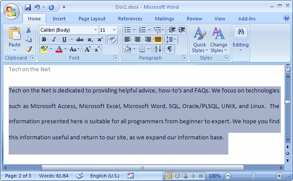 essay on ms word 2007 Learn microsoft office word 2007 the ms word home tab tutorial provides detailed explanation on all the commands that are used most often in word 2007 to edit text.