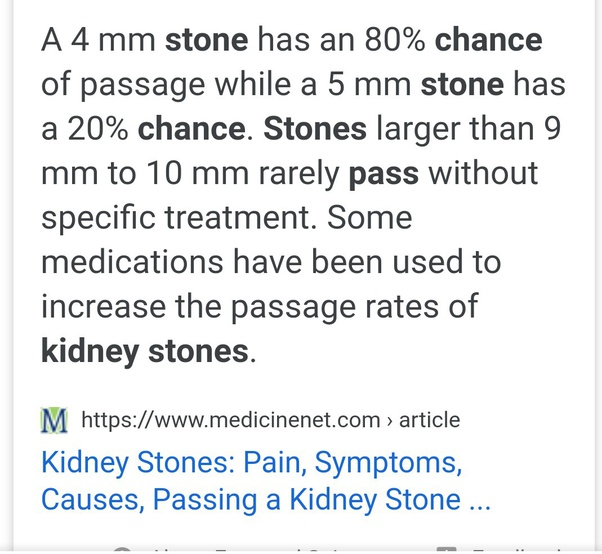 How Long Does It Take To Pass A 3mm Kidney Stone Quora