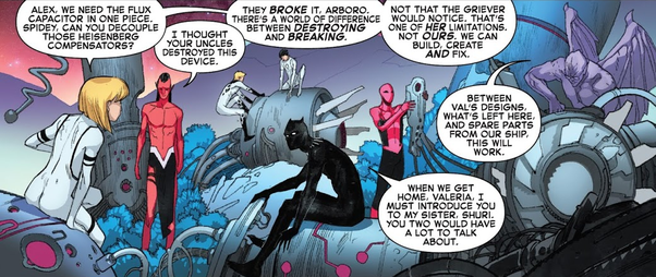 In the comics, does T'Challa talk about his sister when