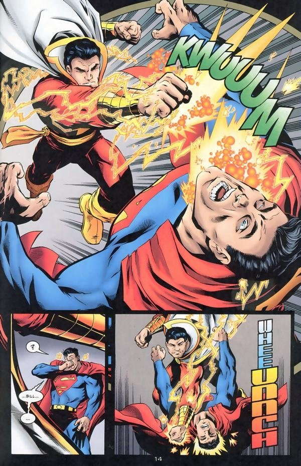 In Previous Confrontations Between Superman And Captain Marvel Tends To Be Able Hold His Own But Mostly Because Is Not Going All Out