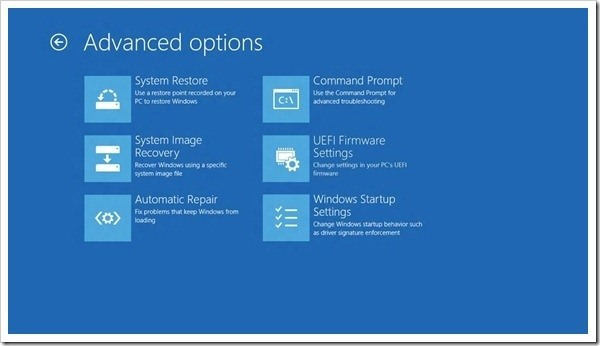recovery options windows. Now just follow the instructions on my article on booting  to safe mode ...
