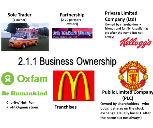 What are some examples of public limited companies (PLCs
