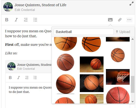 Comment insérer une image dans une réponse ou une question sur Quora