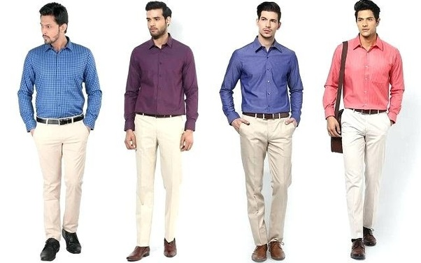 What Colour Pants Go Well With A Light Blue Shirt For Men