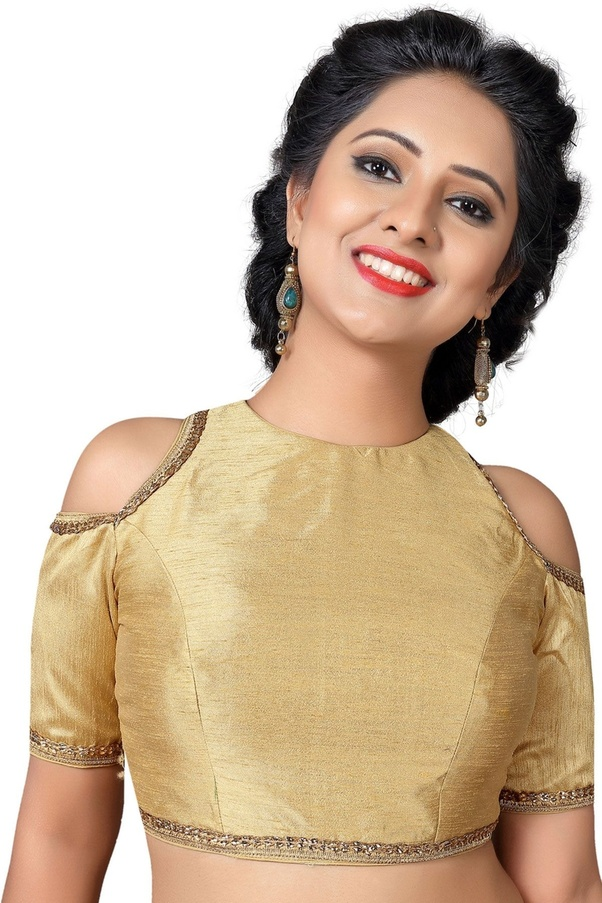 bd073d8eb08a6 Samyakk is prominent for all the trending attires including statement designer  blouse collection which is dominating the fashion forum. Gold Dupion Silk  ...