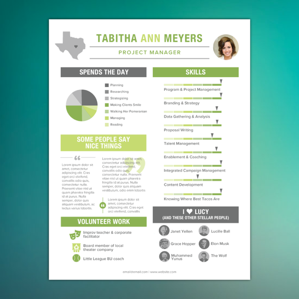 Where can I hire a designer to create an infographic style resume ...