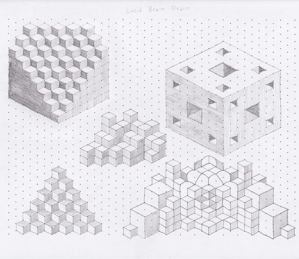 Here Is An Example Of Someone Using Isometric Dot Paper For Art: