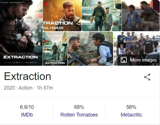 What Is Your Review On Extraction Netflix 2020 Movie Starring Chris Hemsworth Quora