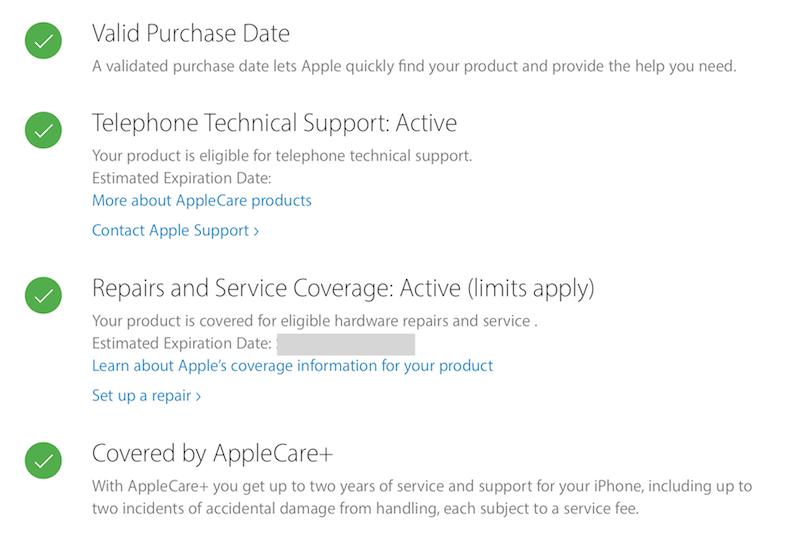 If you sell your iPhone with Apple care, does it still apply