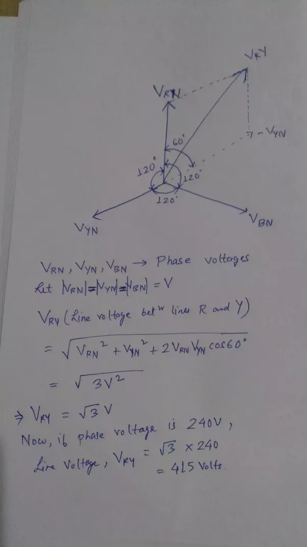 If Single Phase Power Is 220 Volts  Why Is 3 Phase 440