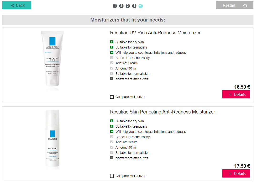 I want to do research on system recommendation of skin care products
