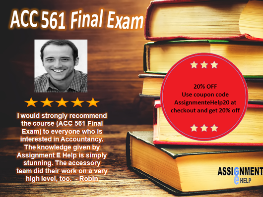 What are some tricks to learn for the acc 561 final exam at the to find out acc 561 final exam its like to study online and how online courses are delivered see online question and answer explained fandeluxe Choice Image