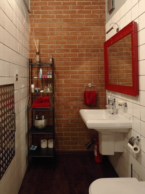 Attirant Different Types Of Bathroom Tiles Can Go Elegantly With Exposed Brick Wall  Designs. To Help You Get A Closer Look, Here Are Some Of The Images That  Will ...