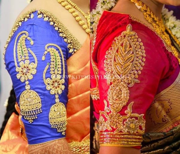 Marriage Blouse Backside Design: What type of blouse suits for banarasi saree? - Quorarh:quora.com,Design
