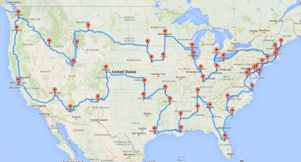 What Is The Best Way To Visit All 50 Us States In One