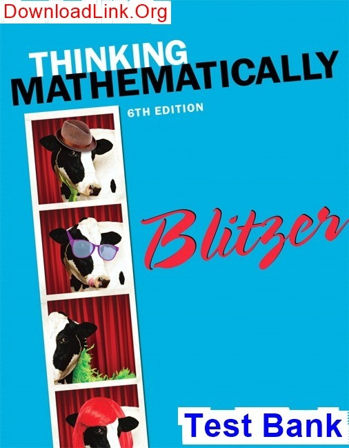 Thinking mathematically, 4th edition, cd lecture series: robert.