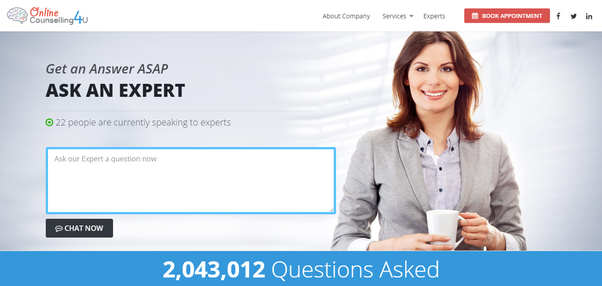 Contact Online Counselling 4 U Expert team Anytime 24/7 for your anxiety,  depression problem.