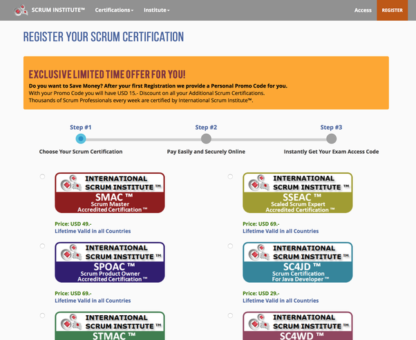 Has anyone completed certification in international scrum institute ...