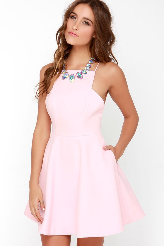 A Lovely Light Pink Dress Calls For Lipstick Or Lipgloss That S Neutral Warm