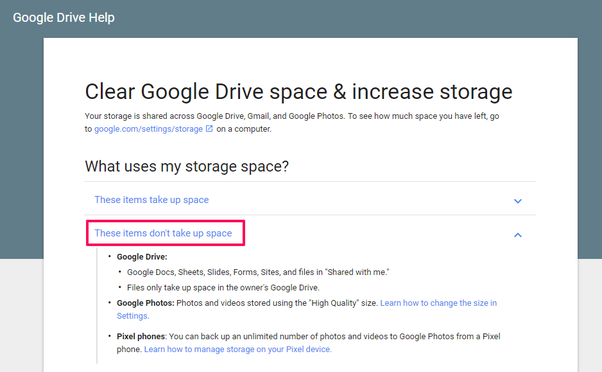 Does Google docs take any space in Google drive? - Quora
