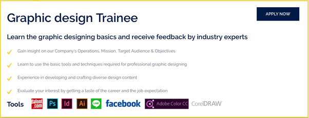 graphic design jobs with training