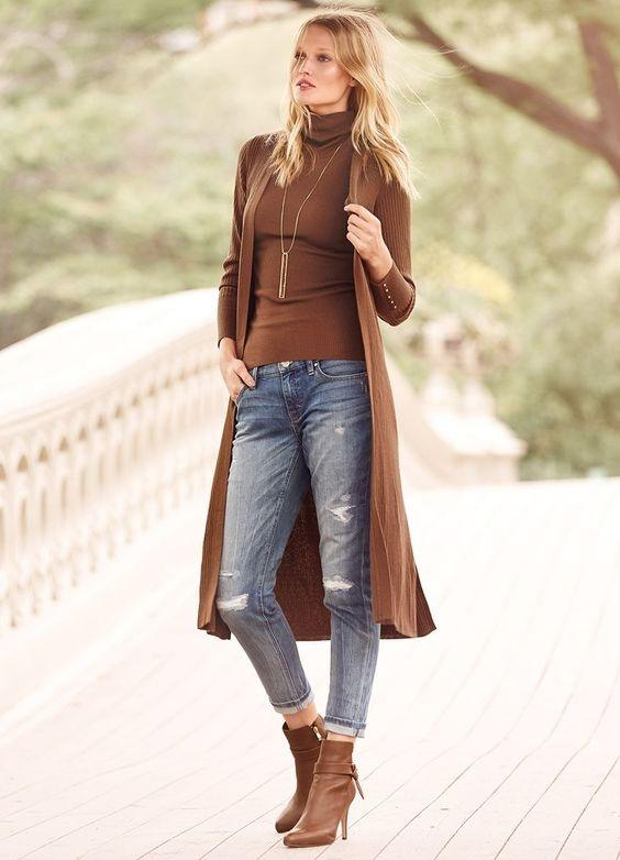 how to wear long shirts with jeans