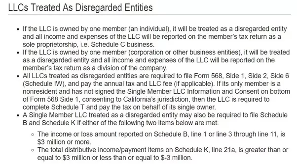 As The Only Member In My California Llc What Tax Entity Should I