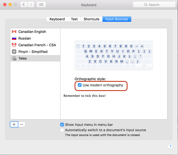 What is the most common Vietnamese keyboard layout used on