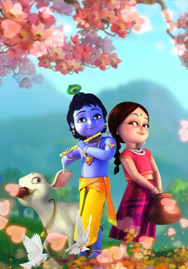 What baby radha krishna images are your best quora - Baby animation wallpaper ...