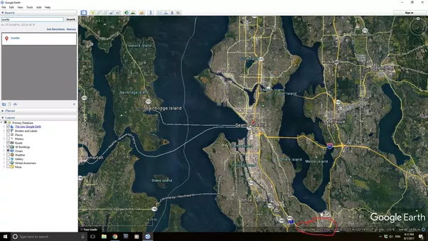 google earth shows you the date of acquisition for the images on the screen with you have historical imagery turned on