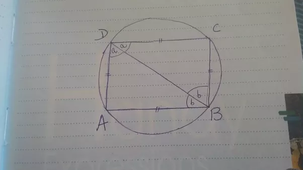 How to prove that the rhombus inscribed in a circle is a square quora given rhombus abcd is inscribed in a circle ccuart Images