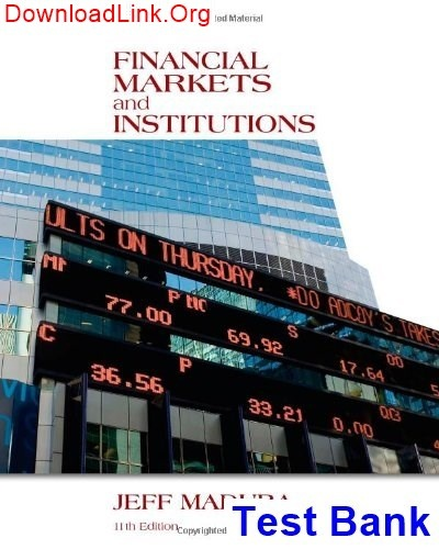 Financial Markets And Institutions Mishkin 8th Edition Pdf