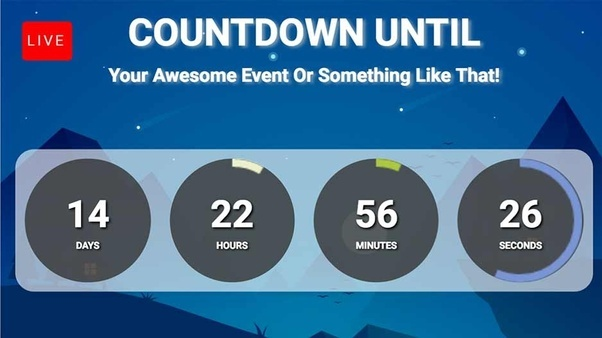How To Create Facebook Live Countdown Quora - Facebook video template