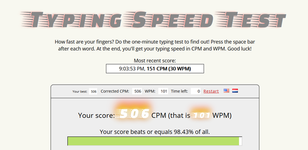 Did you learn to type in school, reaching 50 WPM (words per minute