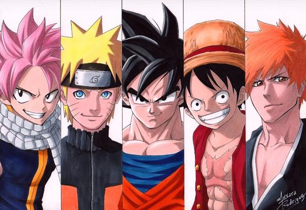 Goku Naruto Luffy Ichigo Deku