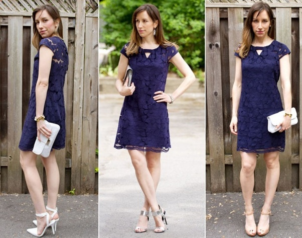 4d0f8c2366a Originally Answered  What color of shoes goes with a navy blue dress