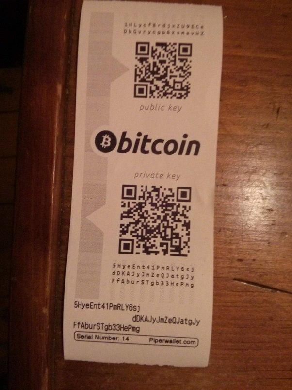 how do physical bitcoins work