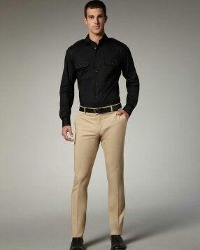 Which colour pants match black shirts quora for Ralph lauren khaki paint