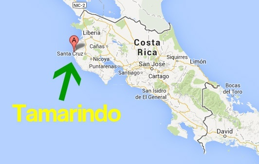 Where is Tamarindo, Costa Rica on a map? - Quora