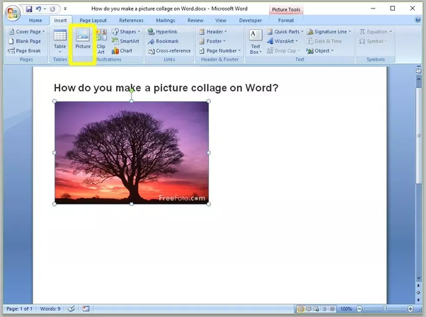 How To Make A Picture Collage On Word Quora
