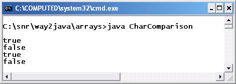 How to compare 'chars' in Java - Quora