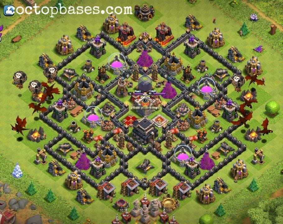 Coc Th 9 Best Base 7