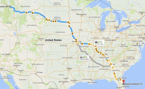 Distance From Atlanta To Daytona Beach Florida