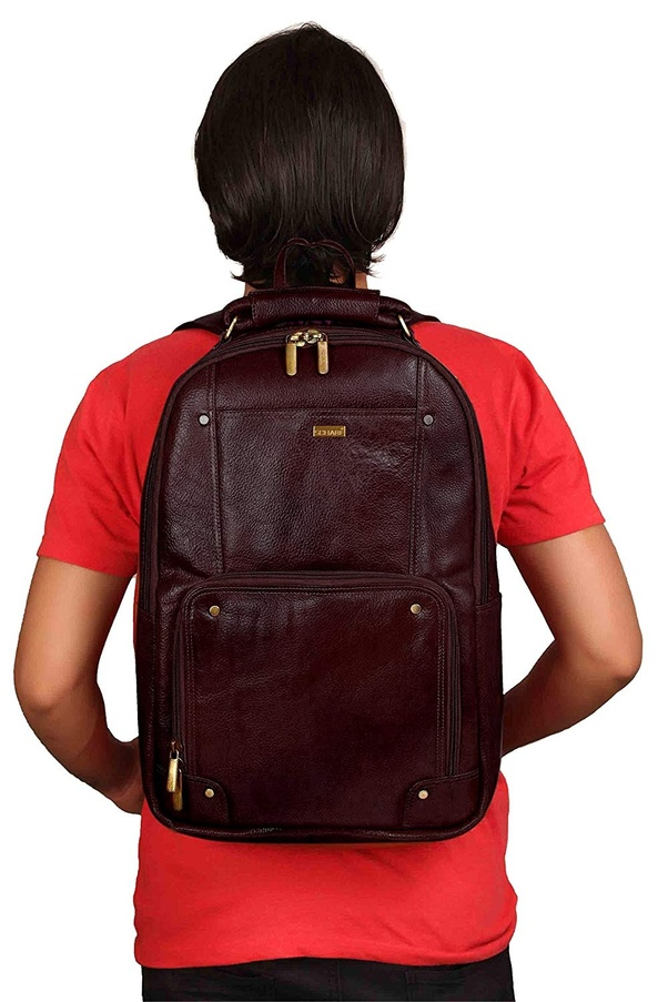 0f687e9e4e My pick for a leather backpack would be Scharf Genuine Leather Laptop  Backpack. It is a top grain leather laptop backpack made from five stage  tanning which ...