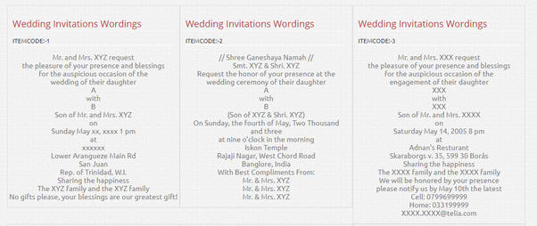 What are the best Indian wedding invitation wordings? - Quora